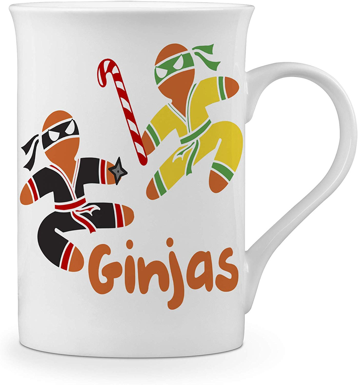 Ginjas Funny Christmas Gingerbread Man Novelty Heat Colour Changing Mug