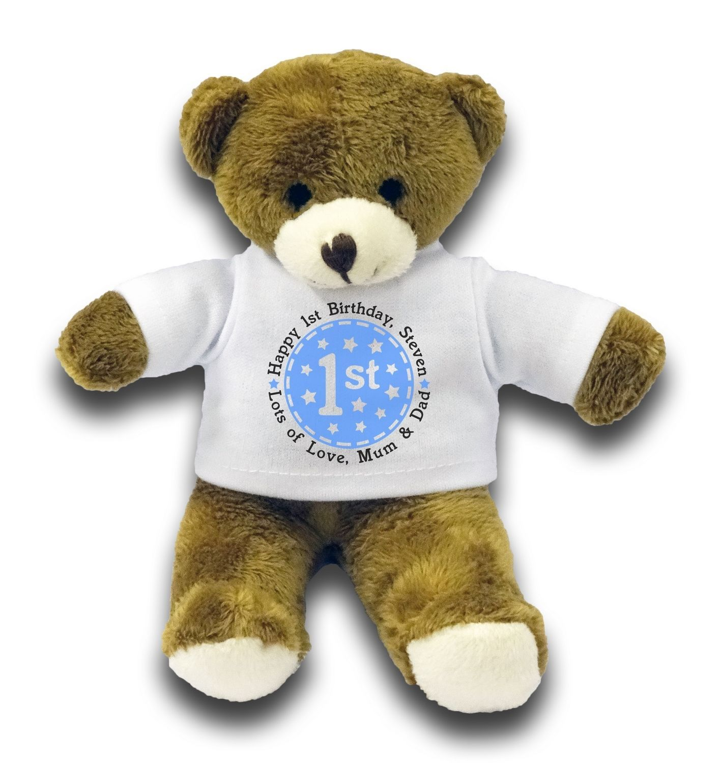 Personalised Happy 1st Birthday Gift 7 Teddy Bear